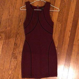 Sanctuary burgundy dress with black details